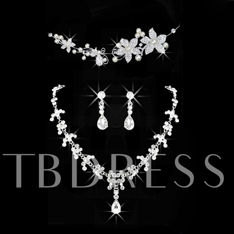 Korean Headpiece Diamante Jewelry Sets (Wedding)