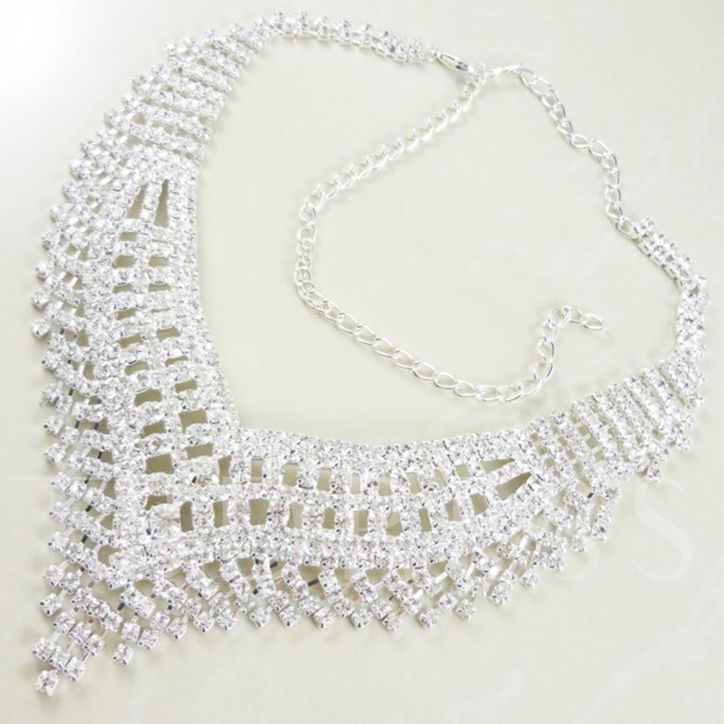 Rhinestone Floral Wedding Jewelry Sets