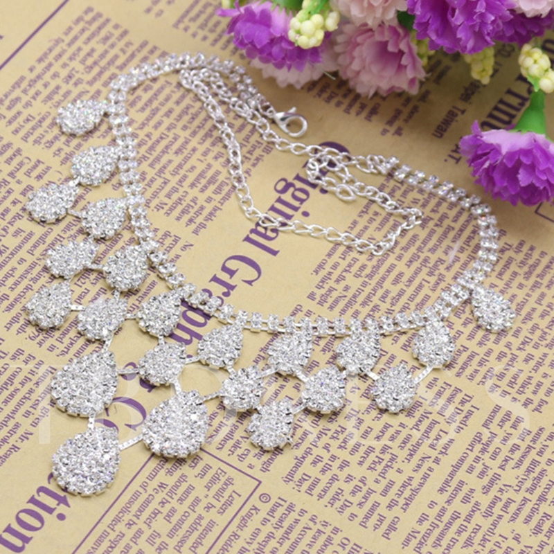 Rhinestone E-Plating Wedding Jewelry Sets