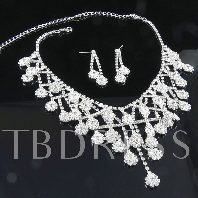 E-Plating European Wedding Jewelry Sets