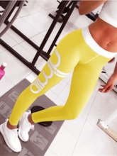 Plus Size Letter Breathable Heart Shape Sports Leggings