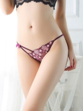 Embroidery Floral Nylon Panties