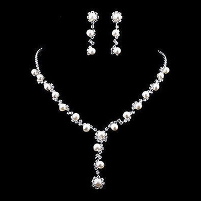 Floral Korean Necklace Jewelry Sets (Wedding) Floral Korean Necklace Jewelry Sets (Wedding)