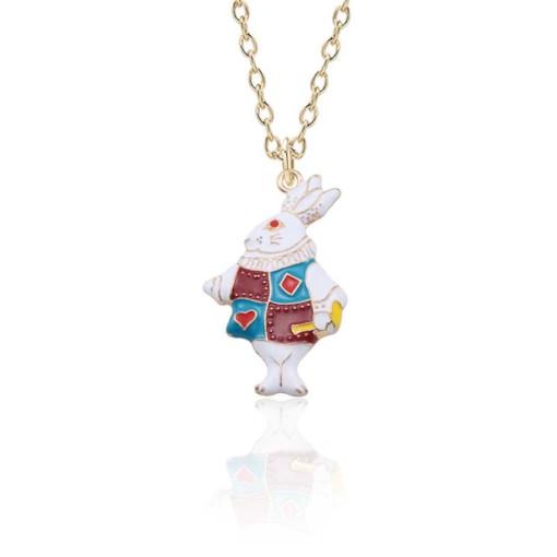 Colored Bunny Rabbit Easter Jewelry Necklace
