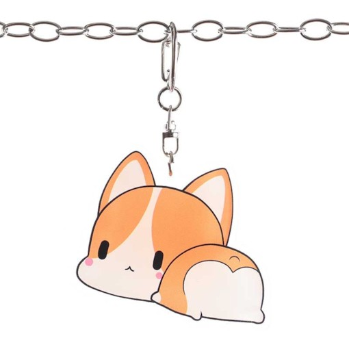 Corgi Dogs Ass Metal Pet Key Chain