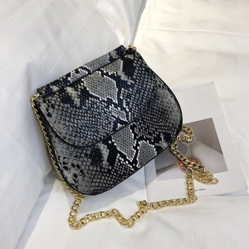 Serpentine PU Chain Crossbody Bags