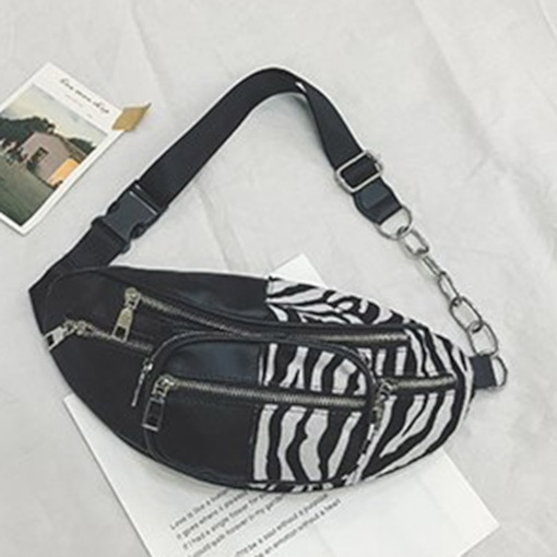 PU Women Thread Waist Bags