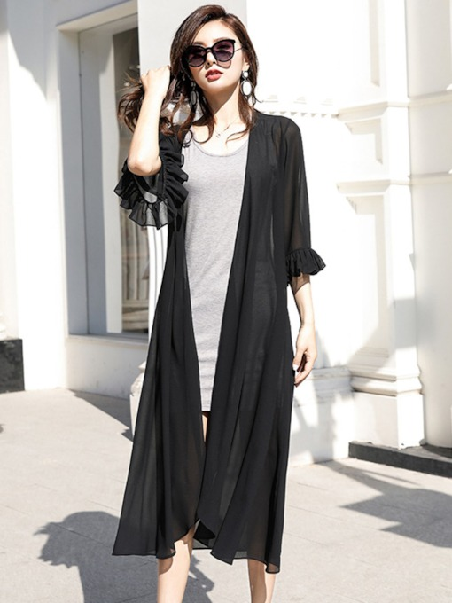 V-Neck Long Loose Women's Trench Coat