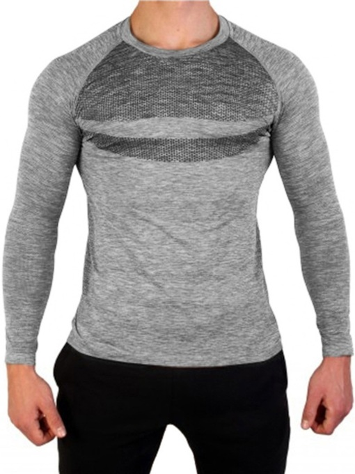 Round Neck Casual Color Block Wrapped Men's T-shirt
