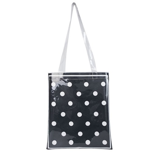 Print Polka Dots PVC Rectangle Shoulder Bags