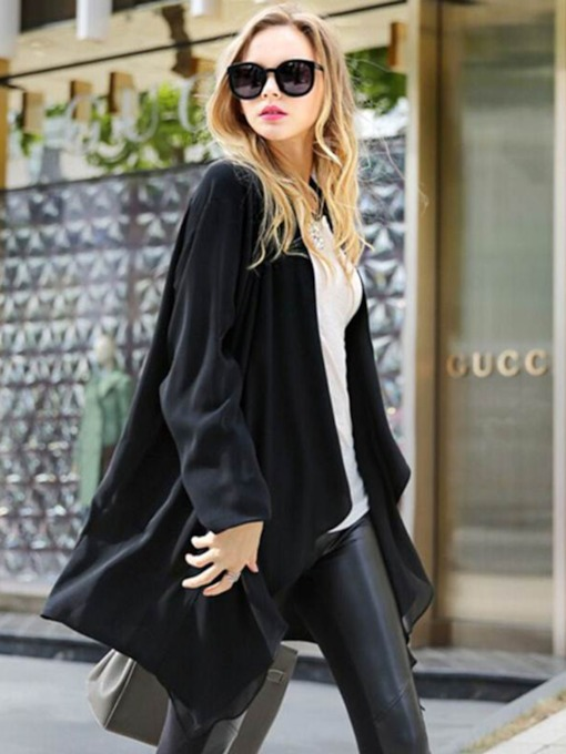Mid-Length Long Sleeve Women's Trench Coat