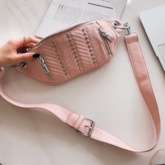 Thread PU Women Waist Bags