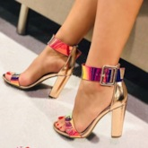 Buckle Chunky Heel Open Toe Heel Covering Trendy Sandals