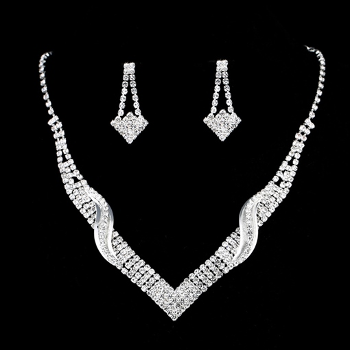 Necklace European Floral Jewelry Sets (Wedding)