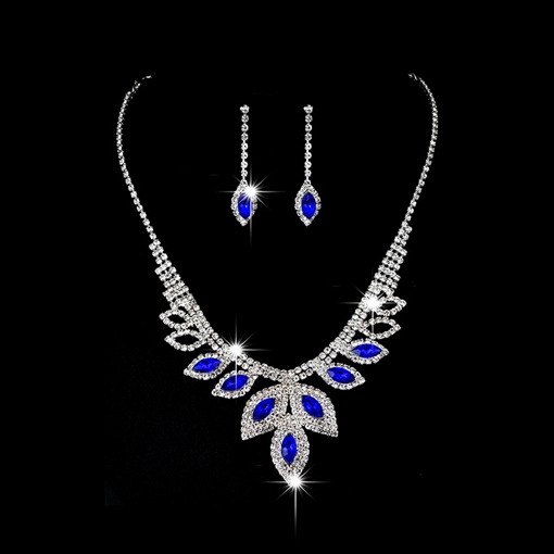 Gemmed Water Drop Necklace Jewelry Sets (Wedding)