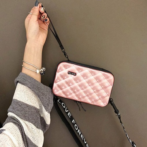 Plaid Embossing Flap Crossbody Bags