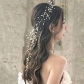 Head Flower Handmade Pearl Wedding Hairband
