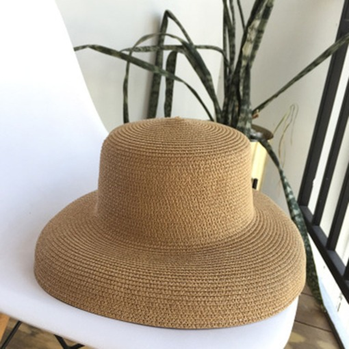 Simple Summer Handmade Weave Straw Sun Hat