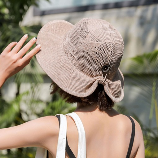 Hollow Out Foldable Beach Sun Straw Hat