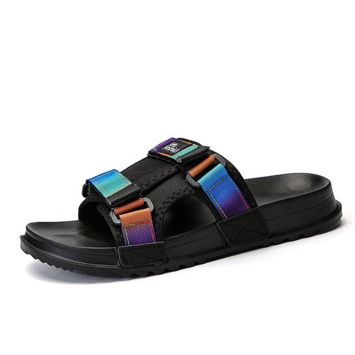 Summer Buckle Chic Men's Slippers