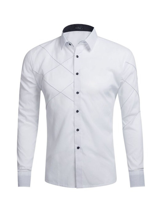 Lapel Casual Plain Spring Men's Shirt