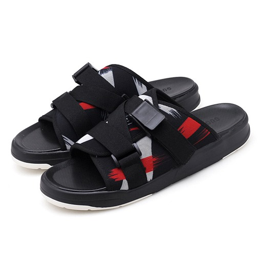 Buckle Summer Patchwork Men's Slippers