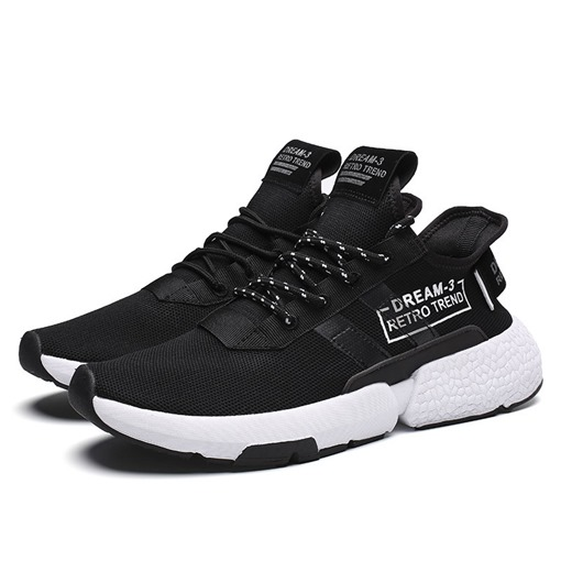 Lace-Up Letter Print Men's Sneakers