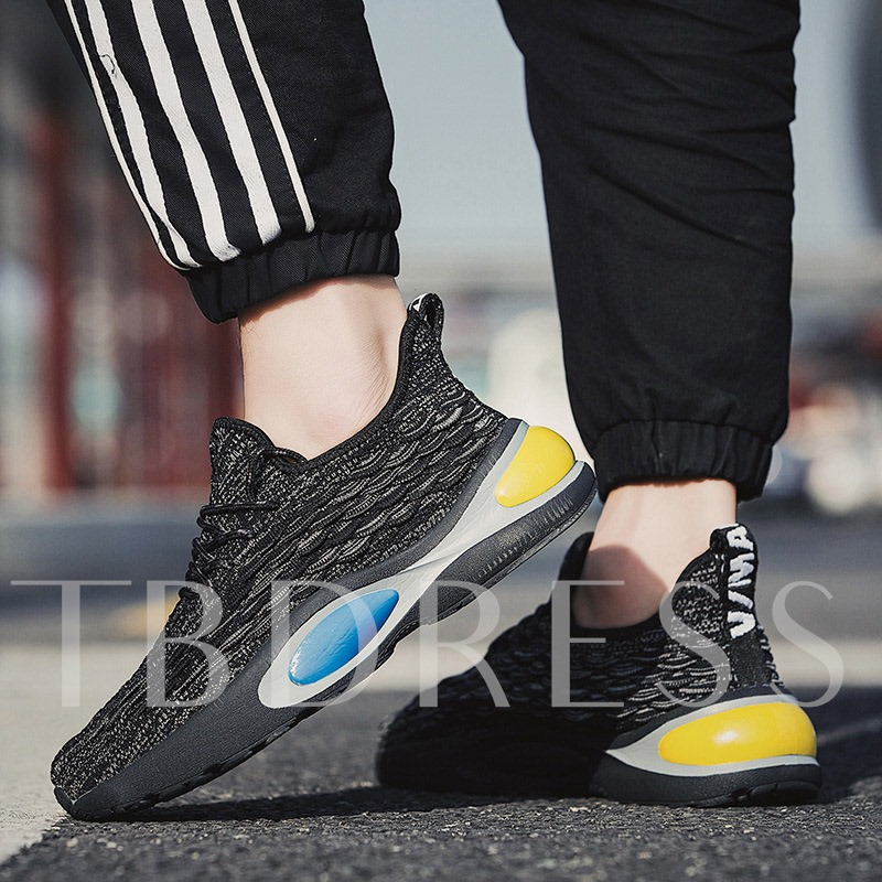 Lace-Up Flat With Mesh Breathable Men's Sneakers