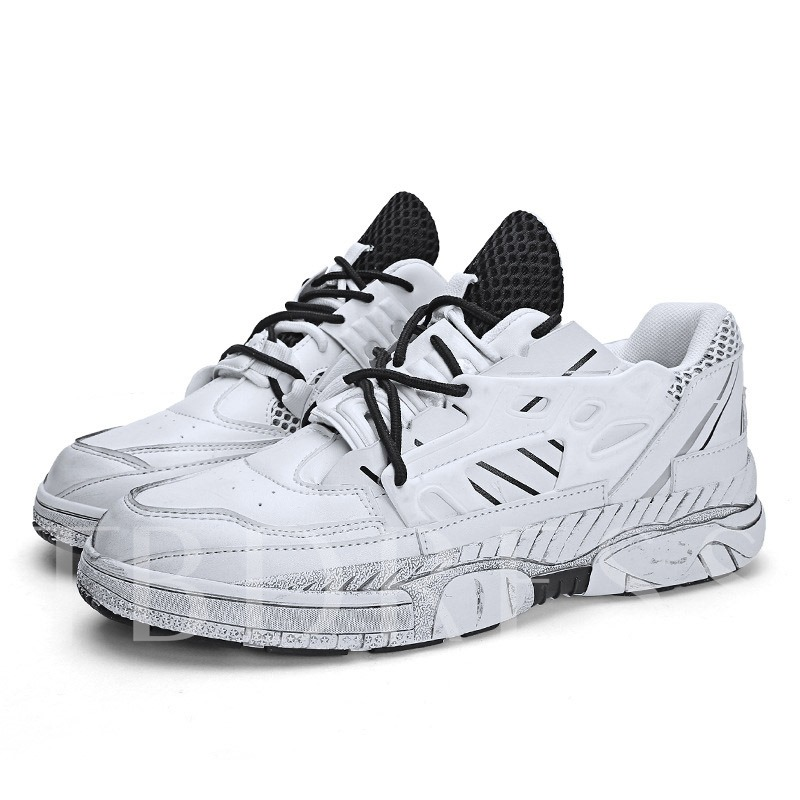 Mid-Cut Upper Lace-Up Round Toe Outdoor Men's Sneakers