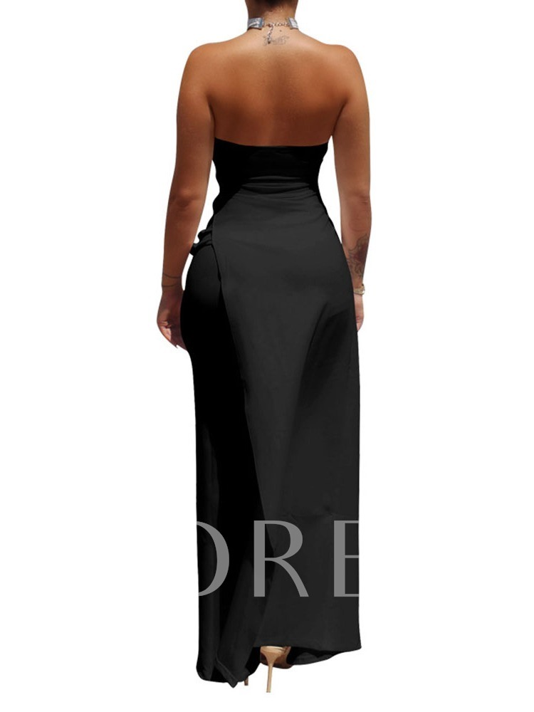 Full Length Sexy Plain Slim Women's Jumpsuit
