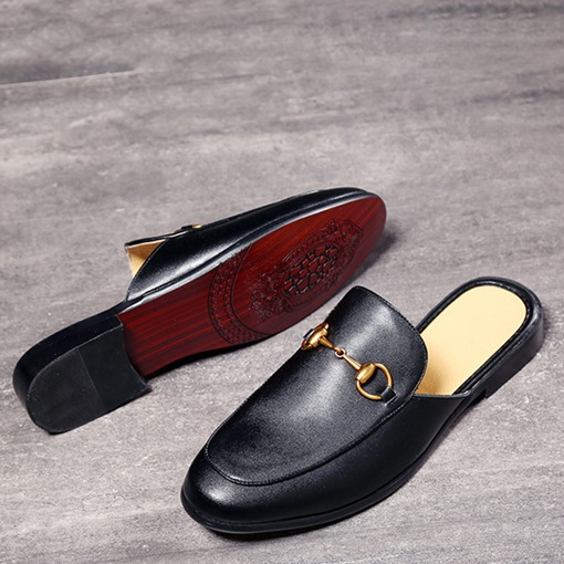 Closed Toe Slip-On Men's Mules