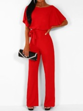 Full Length Western Strap Plain Straight Women's Jumpsuit
