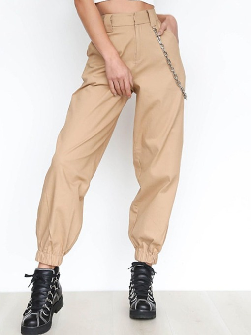 Chain Plain Thin Bellbottoms Spring Men's Casual Pants