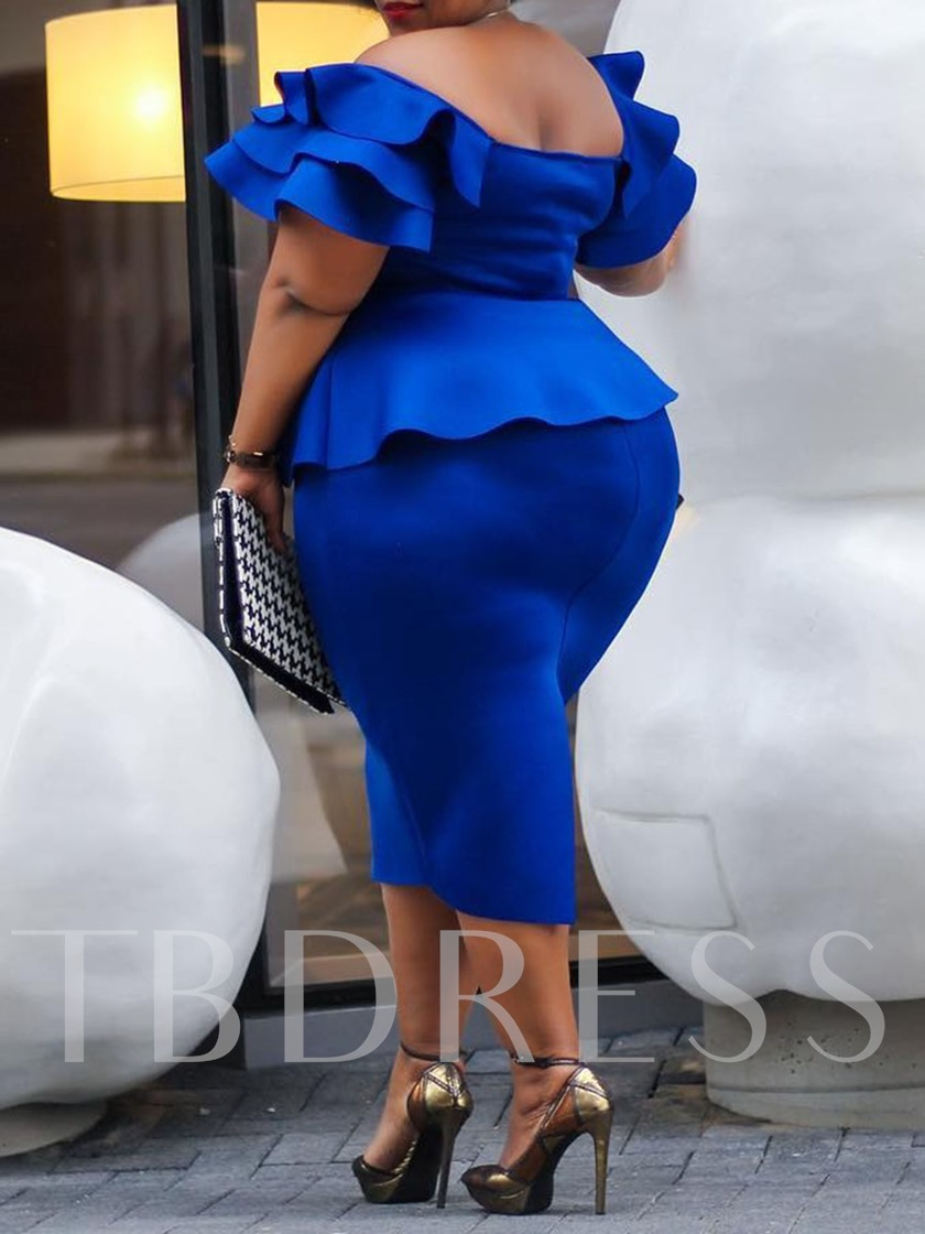 Plus Size African Fashion Patchwork Short Sleeve Women's Bodycon Dress