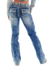 Loose Color Block Women's Jeans