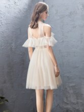 A-Line Appliques Knee-Length Scoop Homecoming Dress 2019