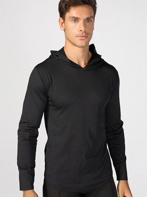 Long Sleeve Hooded Men's Sports Sweater