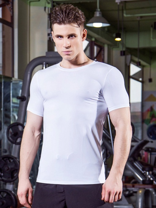 Quick Dry Short Sleeve Men's Running T-shirt