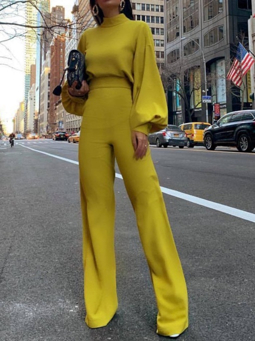 Plain Full Length Fashion Slim Women's Jumpsuit
