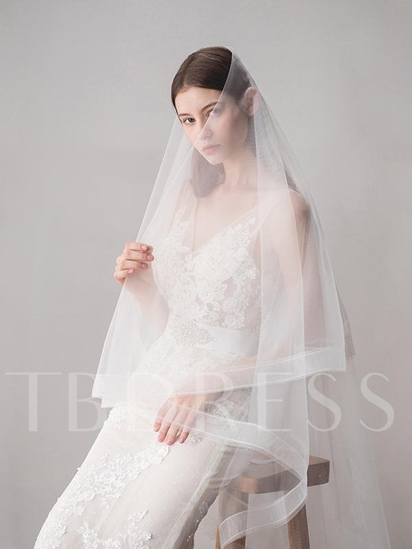 Pencil Edge Hollow One-Layer Wedding Veil 2019