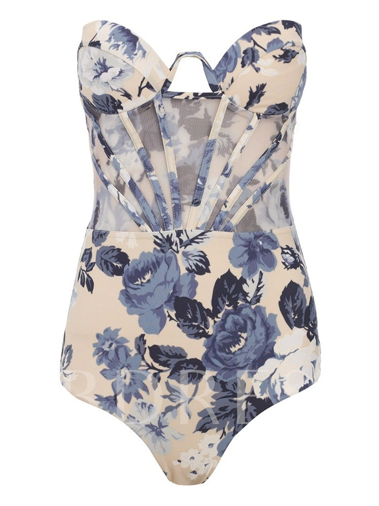 Floral Sexy One Piece Print Women's Swimwear