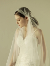 One-Layer Cut Edge Wedding Veil 2019