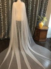 Rhinestone Cape Cathedral Wedding Veil 2019