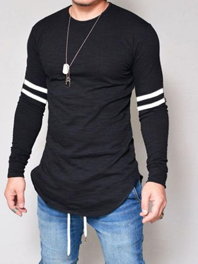 Stripe Casual Straight Mens T-shirt Stripe Casual Straight Men's T-shirt