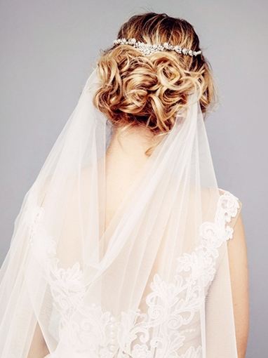 Cut Edge Royal Wedding Veil
