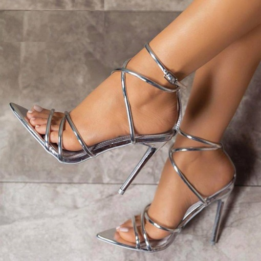 Stiletto Heel Buckle Open Toe Sexy Prom Sandals