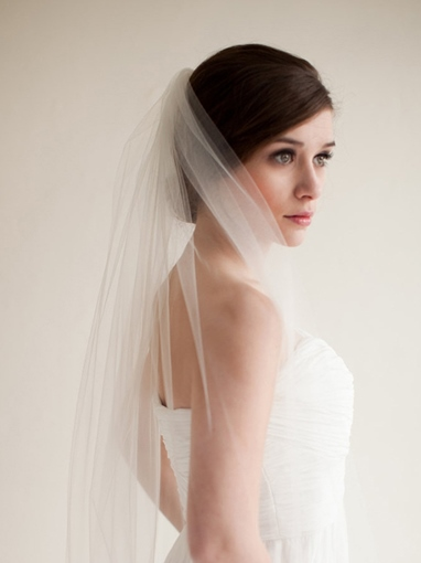 Hollow Cut Edge One-Layer Wedding Veil