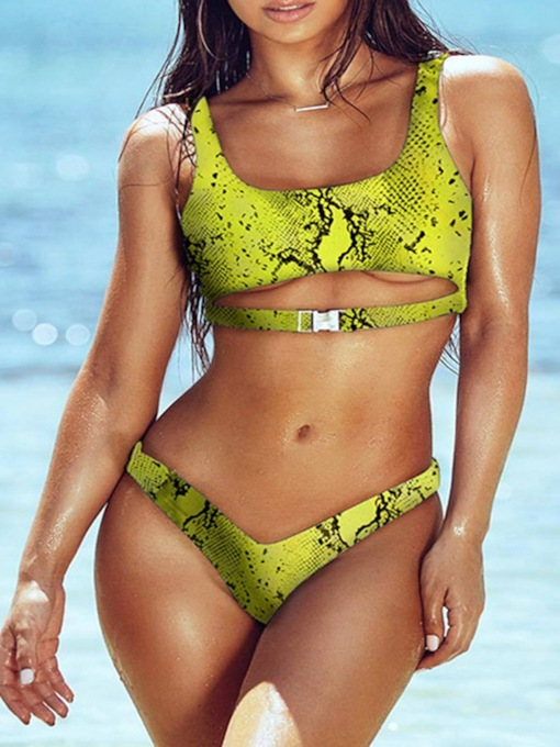 Sexy Tankini Set Print Beach Look Women's Swimwear