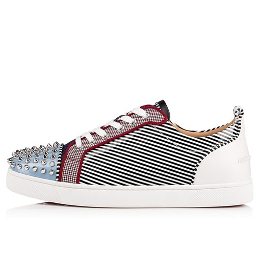 Lace-Up Customized Stripe Flat With Round Toe Mne's Skate Shoes