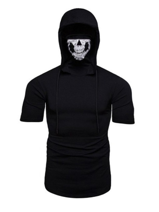 Hooded Plain Wrapped Men's T-shirt